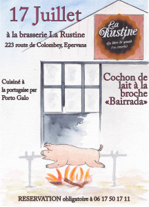 Soirée cochon de lait Bairrada 17 juillet 2019